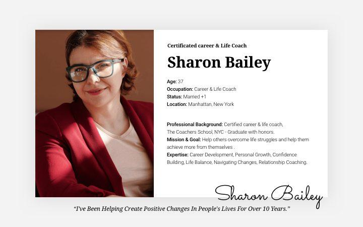 3 - Sharon - Research - Persona
