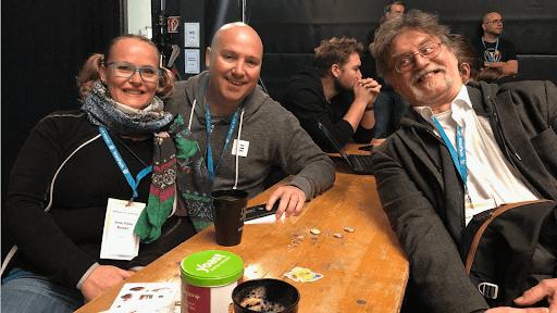 Anna-Mieke with Verdi Heinz and Siggi Becker