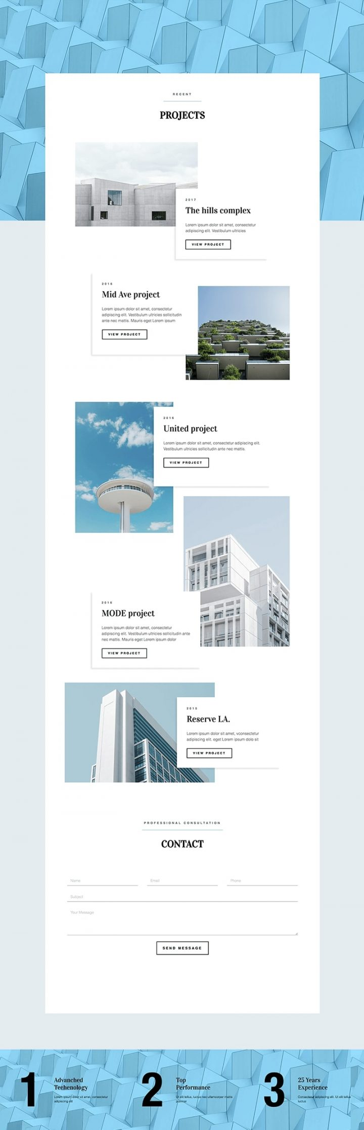Architect Full Page Template
