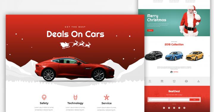 Christmas Page Templates - Car Dealer