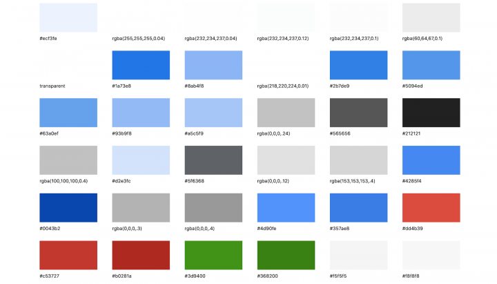 Google's background colors