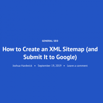 How to Create an XML Sitemap