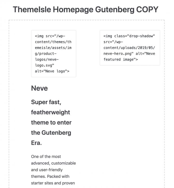 ThemeIsle Gutenberg Copy