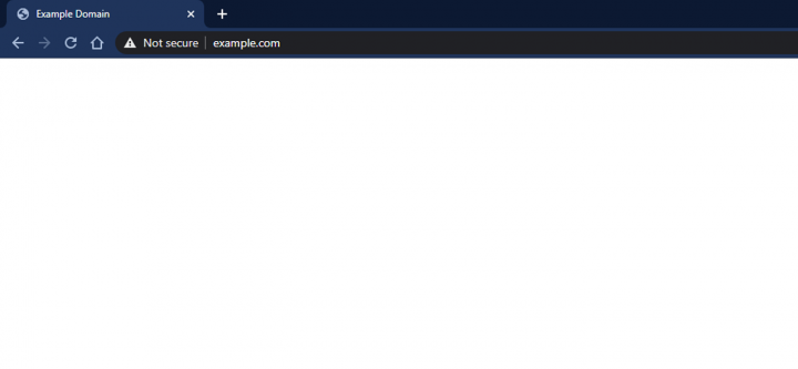 a screenshot of the white screen of death