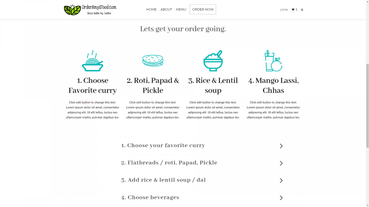 amys-food-order-page