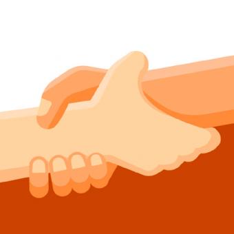 an illustartion of holding hands