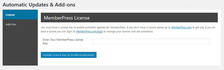 a screenshot showing how to activate memberpress