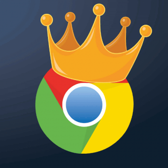 chrome's logo with a crown on top