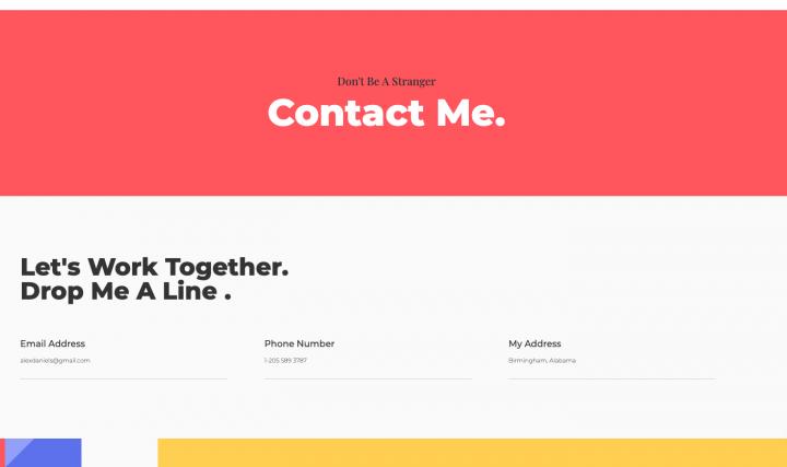 contact page portfolio