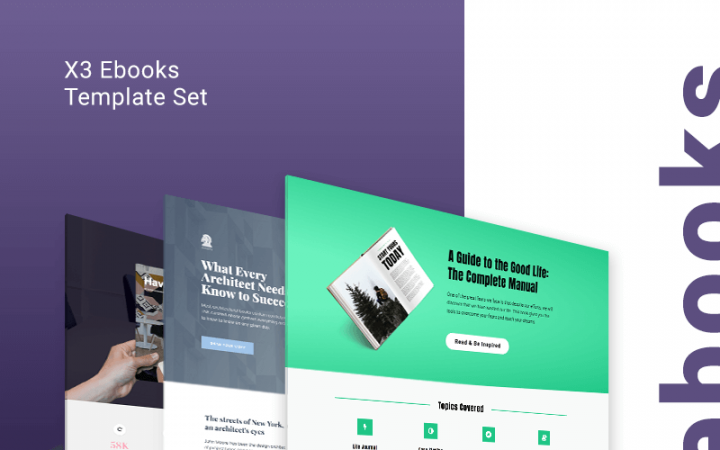 ebooks Landing Page templates