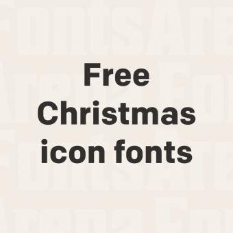 free christmas icon fonts