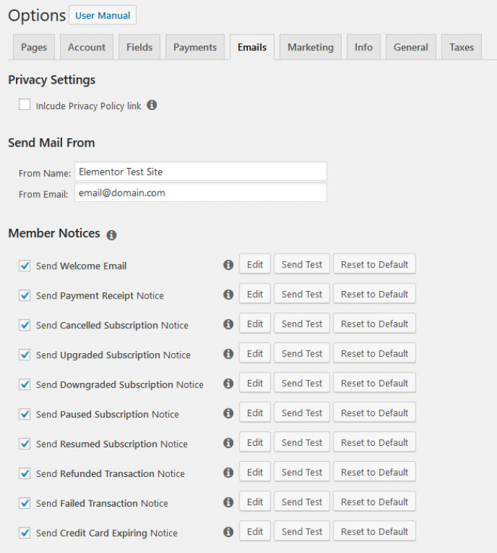 email customization options