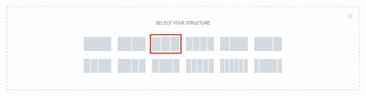 a screenshot of how to choose a three column design