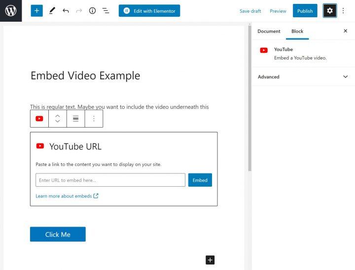 WordPress YouTube Block