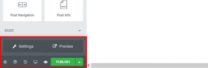 a screenshot of the preview button