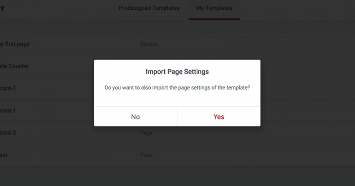 import-page-settings