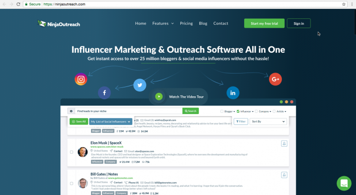 ninjaoutreach homepage redesign with elementor