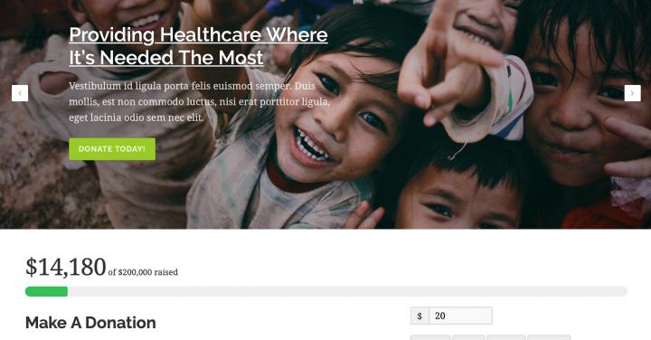 nonprofit healthcare template