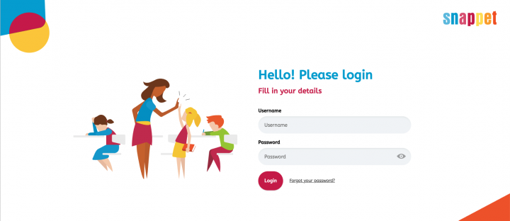 log in form illustration example