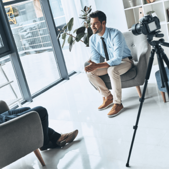 stock image of an interview