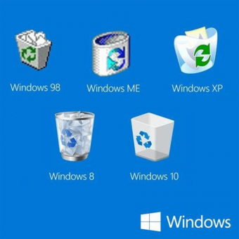 the evolution of the recycle bin through windows releases