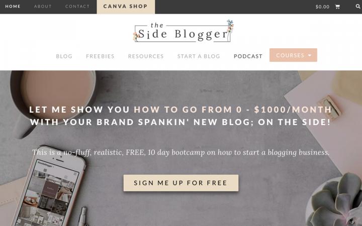 the side blogger elementor showcase
