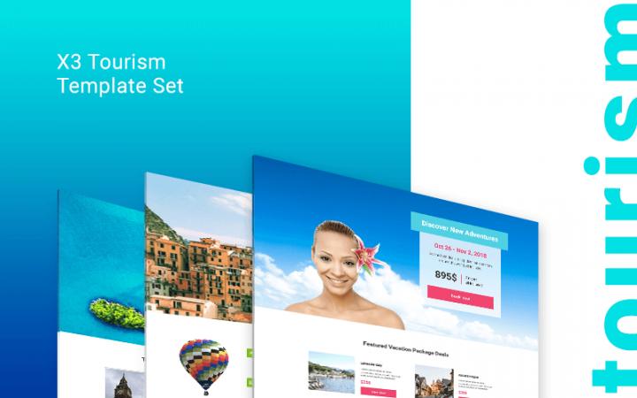 landing page kit: tourism set