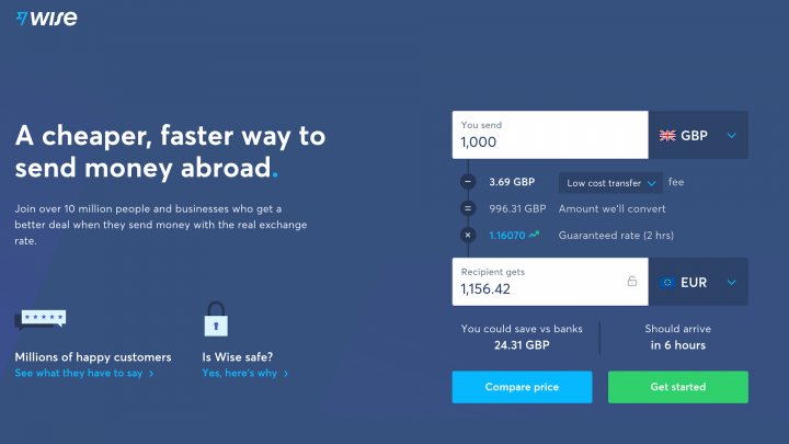 wise-landing-page