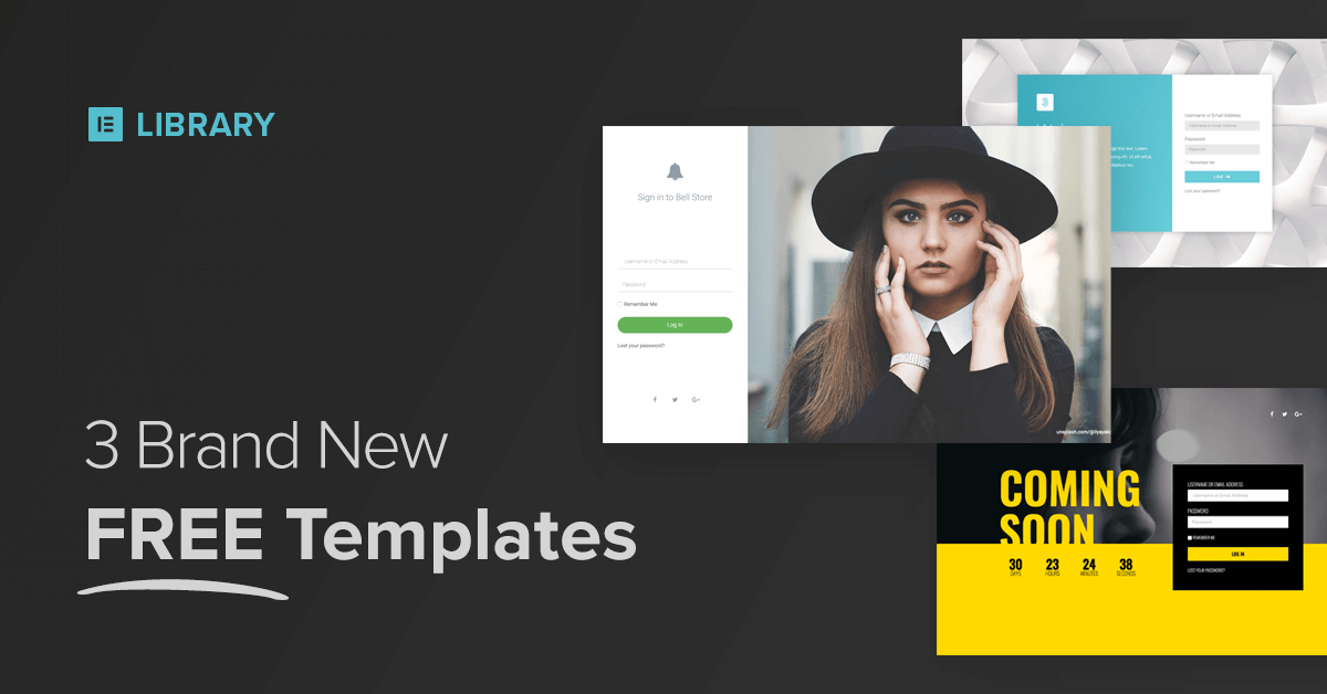 library 3 templates - login