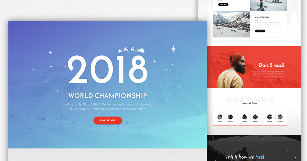 Christmas website templates the snowboard championship template will make you want to grab your skis or snowboard and head off to the alps yourself it sure made me crave those solutioingenieria Choice Image
