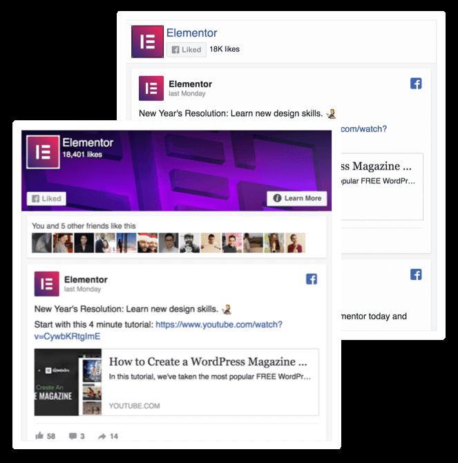 Facebook Widgets - Elementor