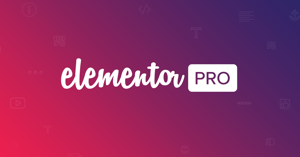 Elementor Pro - The Most Advanced Page Builder Plugin For