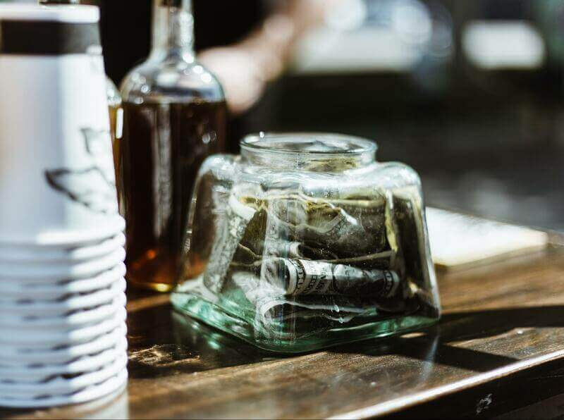 an image of a tips jar.