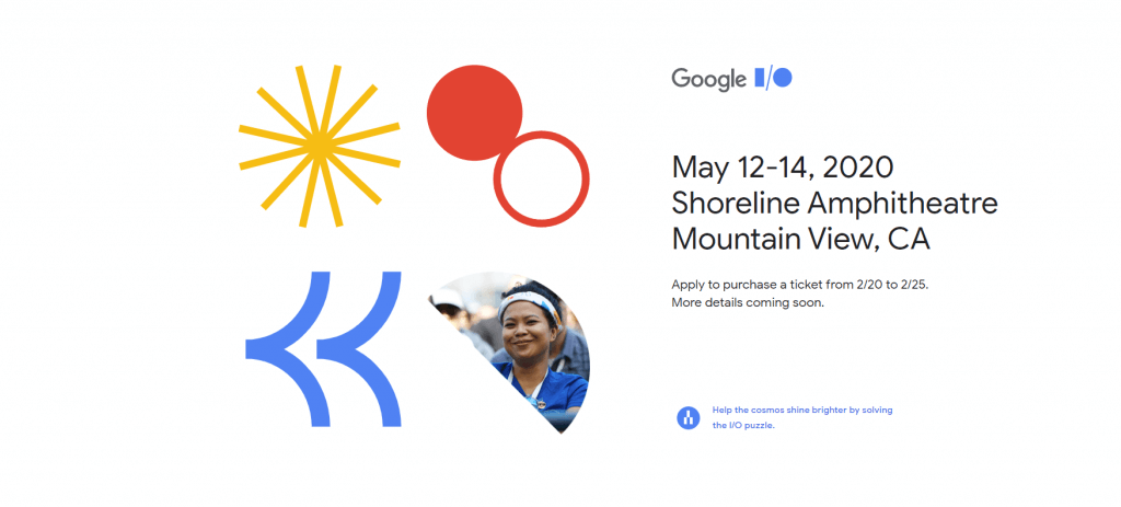 a screenshot of the google event site.
