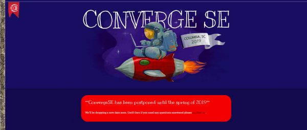 a screenshot of the Converge SE event site.