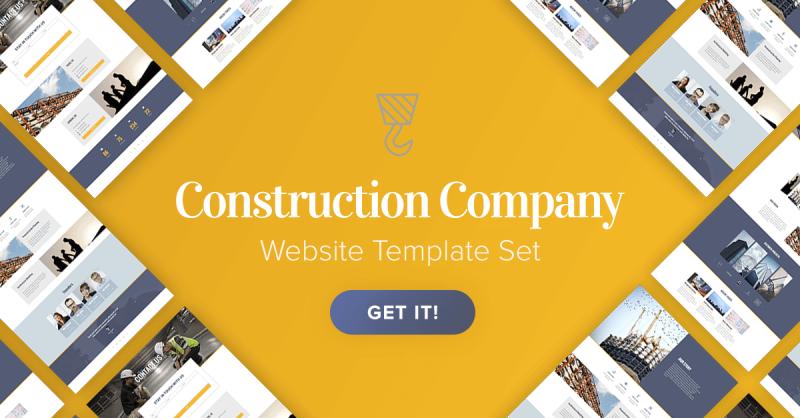 New Templates! Premium Construction Company Template Set