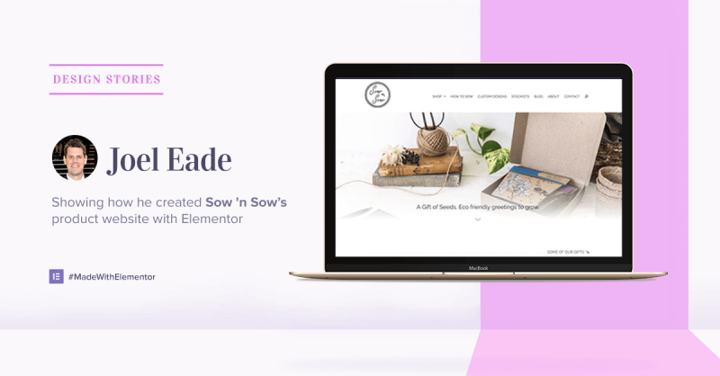 Sow n' Sow's Story: How to Create a Product Website in Elementor