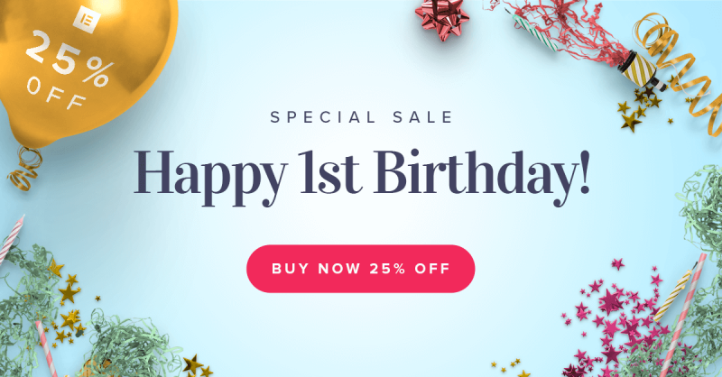 Elementor Birthday Sale | 25% Off June 5-7