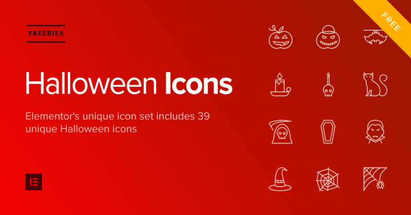 Halloween Gift Pack: Free Icons, Templates, Backgrounds & Masks