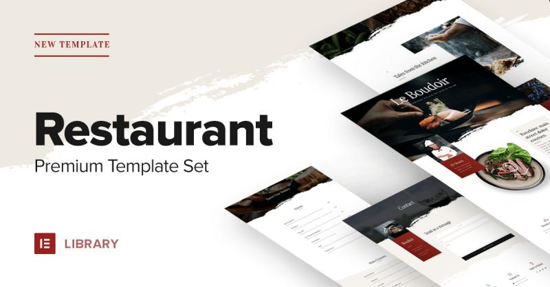 New Premium Restaurant Template Set – Start Getting Reservations!
