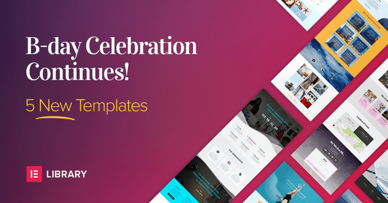 The Celebration Continues! 5 New Pre-Designed Templates Gift