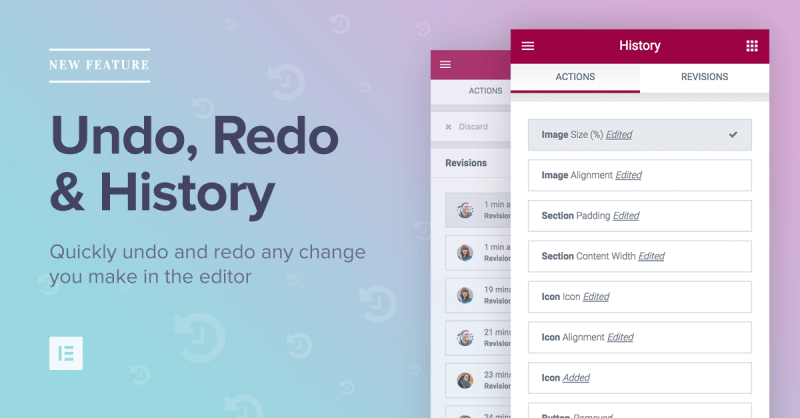Introducing History: Easily Undo / Redo Changes in Editor