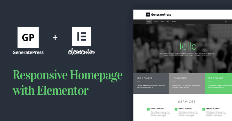 How to Create a Responsive Homepage With GeneratePress WordPress Theme & Elementor