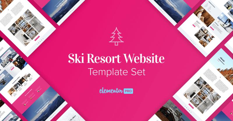 New Templates! Premium Ski-Resort WordPress Template Set